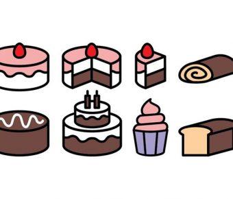【蛋糕圖案】35套 Illustrator 蛋糕圖片下載,蛋糕卡通圖推薦款