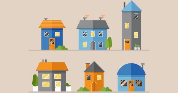 【房子卡通圖】72套 Illustrator 房子圖案下載,房子圖片推薦款