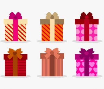 【禮物素材】34套 Illustrator 禮物圖片下載,禮物 icon推薦款