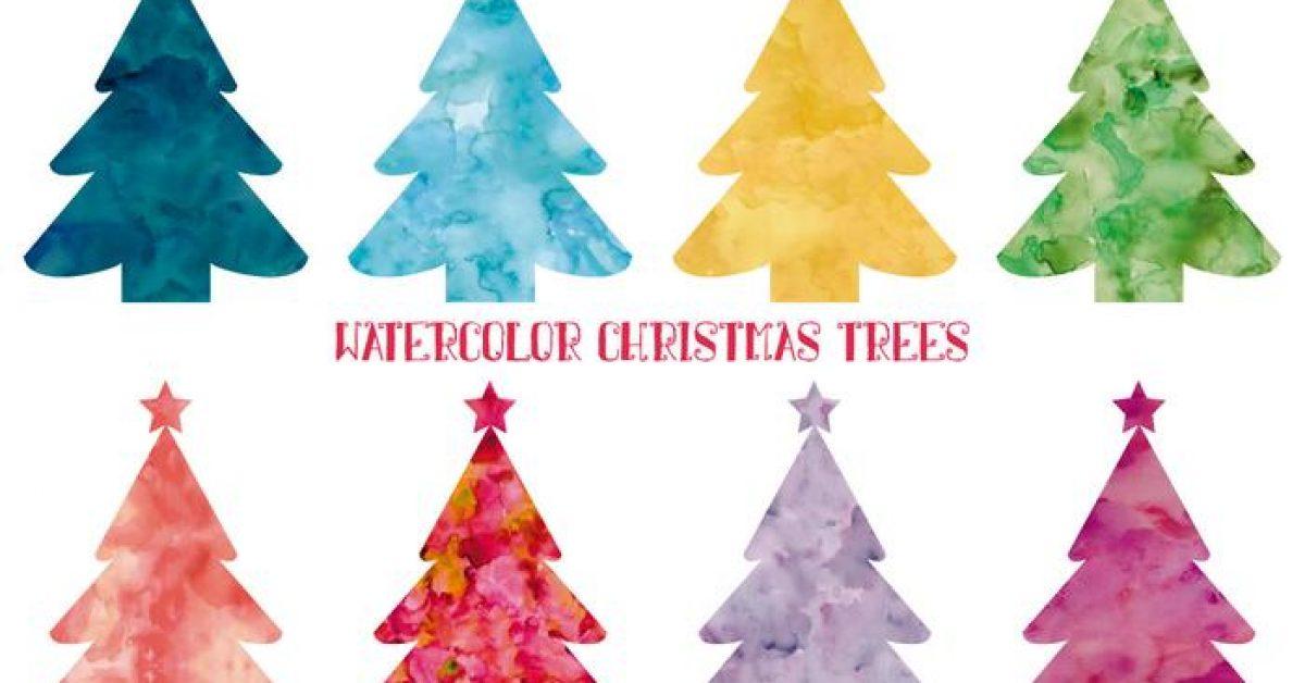 【聖誕樹卡通圖】40套 Illustrator 聖誕樹手繪圖下載,聖誕樹插圖推薦款