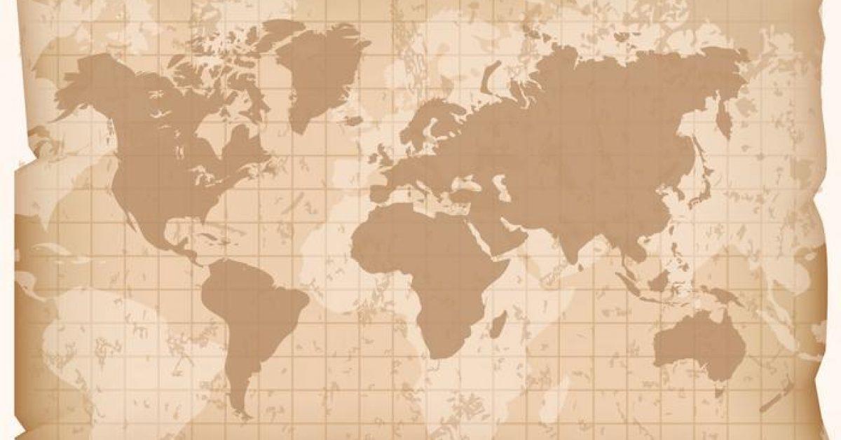 【世界地圖壁紙】60套 Illustrator 世界地圖 ai下載,地圖素材推薦款