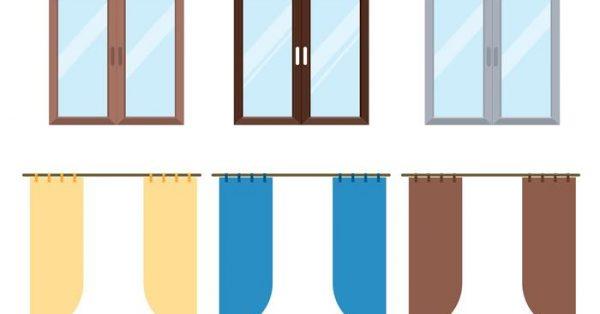 【窗簾圖案】32套 Illustrator 窗簾素材下載,窗簾卡通圖推薦款