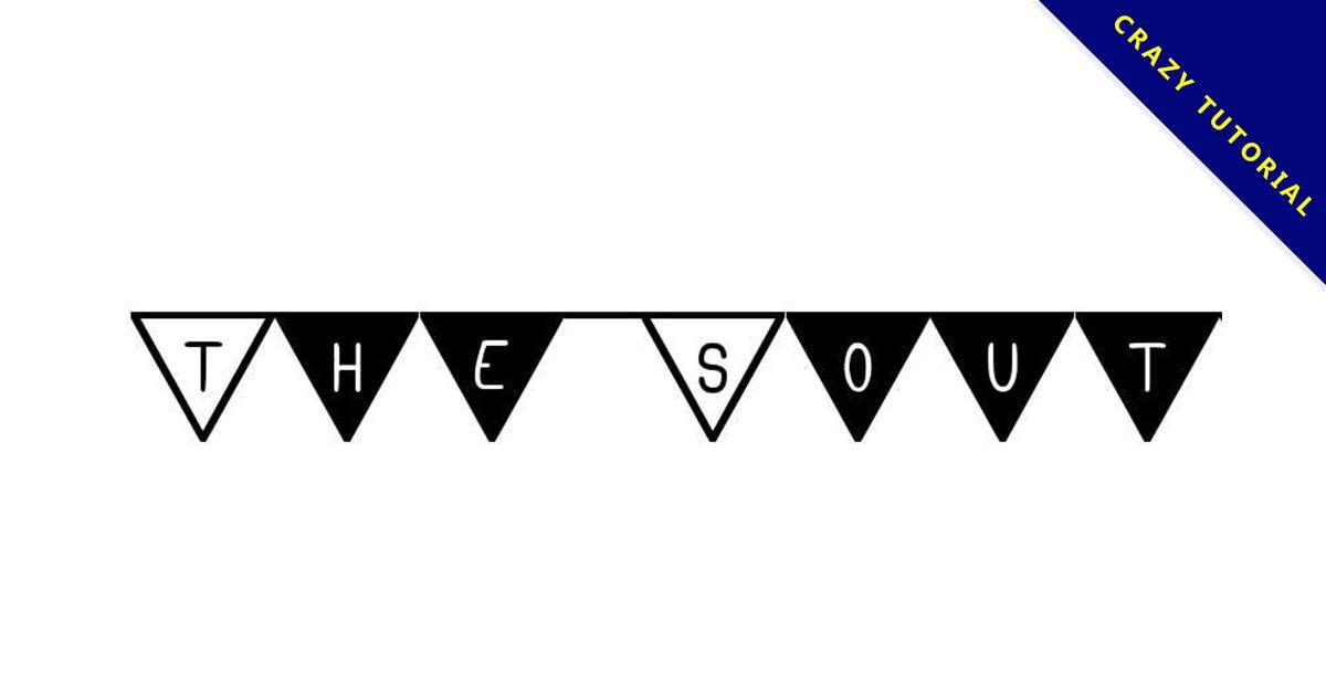 【旗子字體】South Flag 三角旗子字體下載,可用於生日卡片