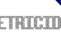 【方塊字型】Tetricide 俄羅斯方塊字型下載,遊戲主題專用