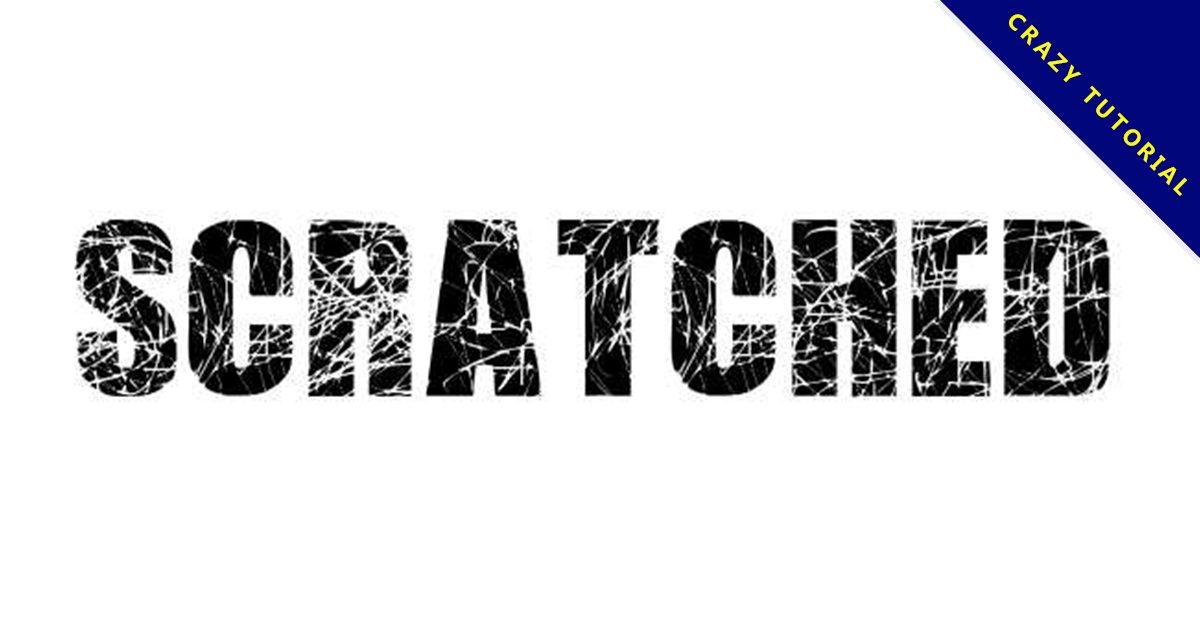 【刮痕字體】Scratched Letters 英文刮痕字體下載