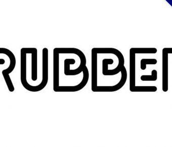 【線條字體】Rubber 可愛線條字體下載,線條風格字