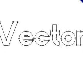 【向量字體】Vector 鋼筆向量字體下載,描圖字體