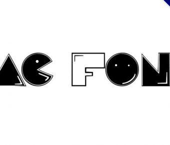 【小精靈字體】Pac 遊戲小精靈字體下載,紅白機遊戲字體
