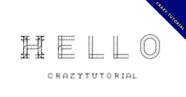 【電影字體】日本電影底片字體下載,有質感的底片字型
