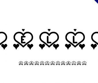 【愛心字體】Love St 英文愛心字體下載,愛心形狀字體