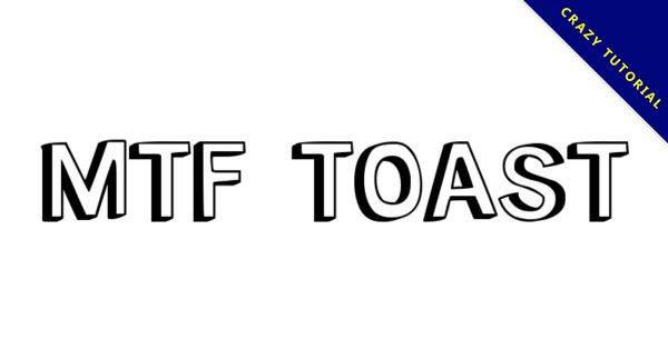 【陰影字體】MTF Toast 英文手繪陰影字體下載