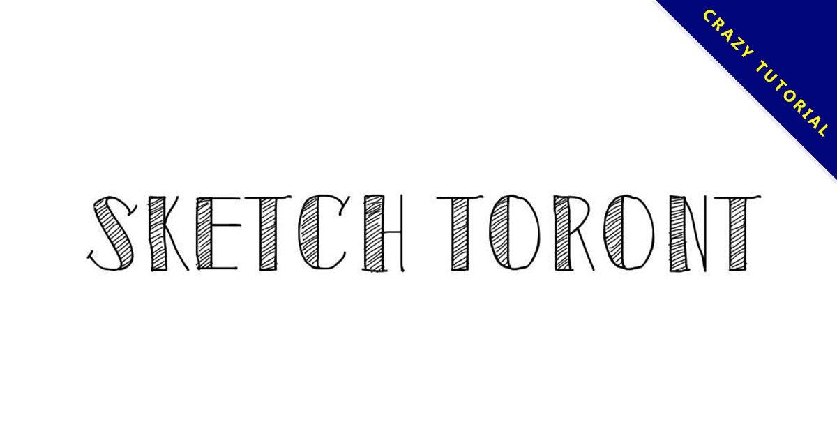 【手繪風字體】Sketch Toronto 素描手繪風格字體下載