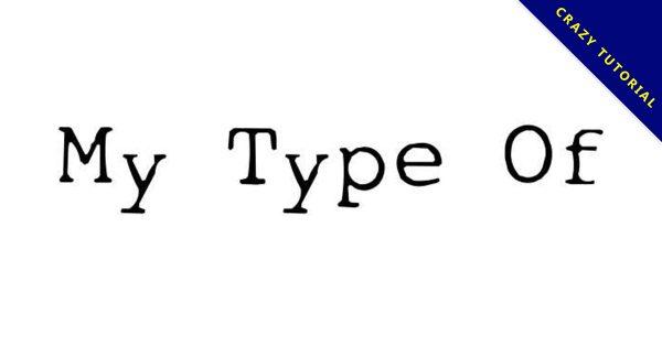 【打字機字體】My Type 英文打字機字體下載