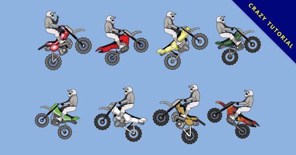 【摩托車卡通圖】精選35款摩托車卡通圖下載,摩托車q版免費推薦款