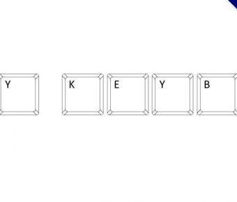 【鍵盤字體】My Keyboard 教學用鍵盤字體下載
