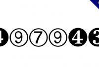 【圓形數字】Digits 黑框白字圓形數字體下載