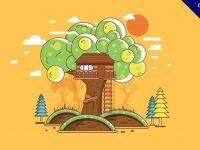 【樹屋設計】精選38款樹屋設計下載,樹屋卡通免費推薦款