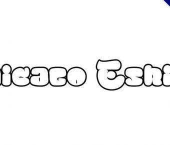 【泡泡字體】Chicago Eskimo 英文泡泡字體下載,泡泡字塗鴉專用