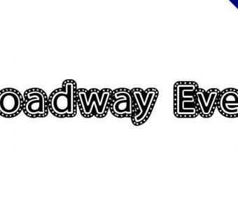 【燈珠字體】Broadway Event 百老匯燈珠字體下載