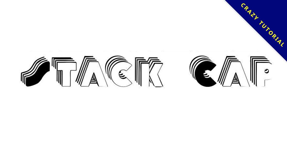 【重疊字體】Stack Caps 重疊效果字體下載,疊字效果推薦