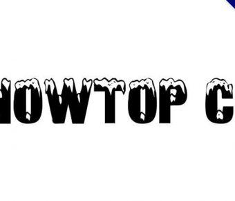 【積雪字體】Snowtop Caps 聖誕節積雪字體下載