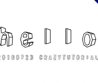 【立體字體】日系3d立體字體下載,支援中文和英文