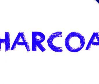 【粉彩字體】Charcoal 英文粉彩字體下載,有質感的粉彩字