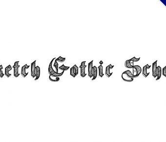 【素描哥德體】Sketch Gothic 素描哥德式字體下載