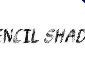 【鉛筆畫字型】Pencil Shading 英文鉛筆字型下載