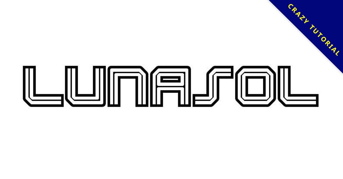 【線條字體】Lunasol Aurora 質感英文線條字體下載