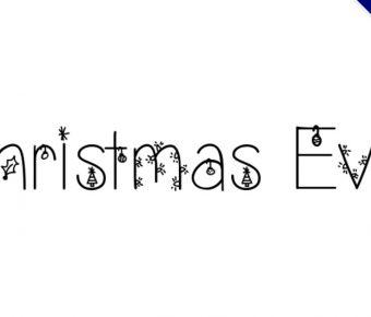 【聖誕節字體】Christmas Eve 聖誕節主題字型下載