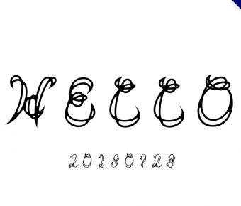 【英文刺青字】日本英文刺青字體下載,看起來很像梵文的英文字