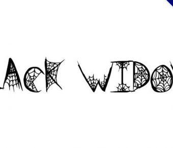 【蜘蛛網字體】Black Widow  可愛蜘蛛網字體下載。節日限定款