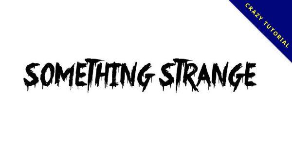 【血跡字體】Something Strange 手寫血跡字體下載