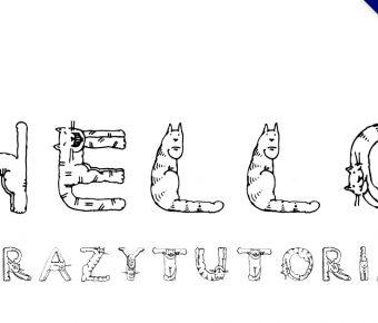 【貓咪字體】英文版貓咪裝飾字體下載,貓咪形狀字體