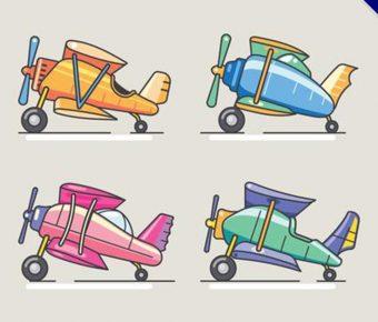 【飛機卡通圖】精選37款飛機卡通圖下載,飛機圖案免費推薦款