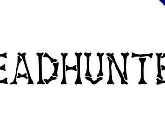 【骨頭字體】 Headhunter 人類骨頭字體下載