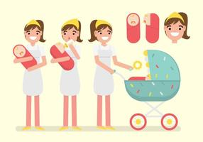 【宝宝卡通图】34套 Illustrator 宝宝图卡下载,宝宝图案推荐款