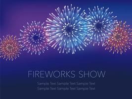 A fireworks background with text space.