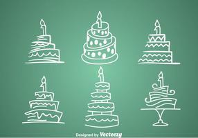 1st Birthday Cake Icons