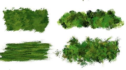 【树丛笔刷】21套PHOTOSHOP叶子树丛笔刷下载