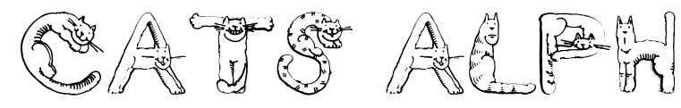 【猫咪字体】英文版猫咪装饰字体下载,猫咪形状字体