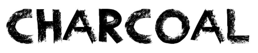 【粉彩字体】Charcoal 英文粉彩字体下载,有质感的粉彩字
