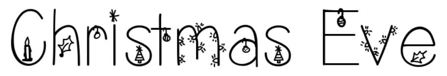 【圣诞节字体】Christmas Eve 圣诞节主题字型下载