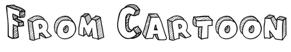 【卡通字体】Cartoon Blocks 可爱卡通字型下载,卡通立体字推荐