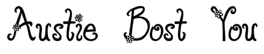【花朵字型】Wear Flowers 可爱花朵字型下载,美翻你的视觉