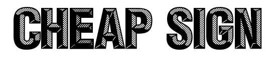 【浮雕字体】 Cheap Sign 浮雕字体下载,网点浮雕字