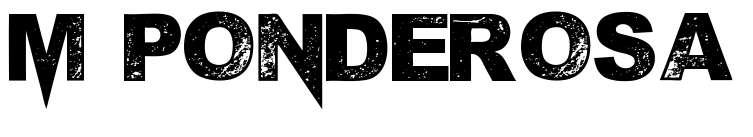 【喷漆字体】M Ponderosa 英文喷漆字体下载,喷漆效果推荐