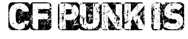 【拓印字体】CF Punk 英文拓印字体下载,拓印风格推荐