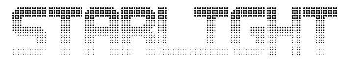 【星光字体】Starlight 英文星光字体下载,星光圆点字推荐